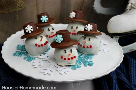 snowman oreo cookie balls homemade holiday inspiration