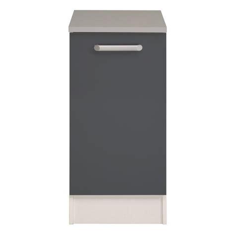 meuble bas cuisine 1 porte 40cm quot shiny quot gris