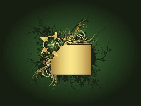 Green And Gold Tree Wallpaper by Gold And Green Wallpaper Wallpapersafari