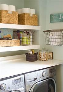 Diy floating shelves organize and inspire for Floating shelves for laundry room