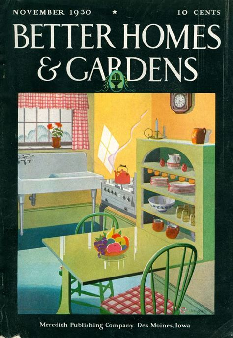 Better Homes and Gardens cover, November, 1930, vintage