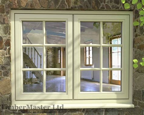 flush double casement painted window cottage bar windows fitted twin weath
