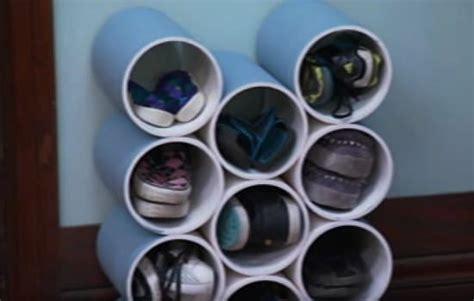 pvc shoe rack how to make a diy pvc shoe rack