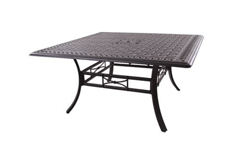 201088 w darlee 60 quot square dining patio table in cast