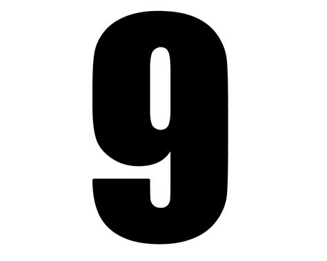 Free Number 9 Cliparts Black, Download Free Clip Art, Free