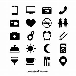 Hotel room icons Vector | Free Download