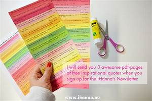 Sign up for iHanna's Newsletter and get free printable of ...