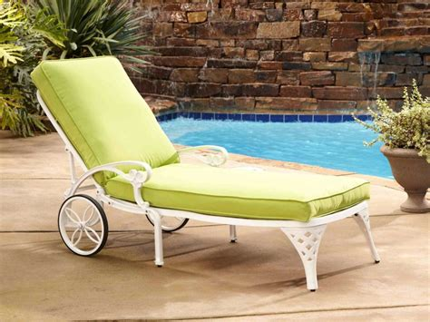 home styles biscayne white chaise lounge chair green apple