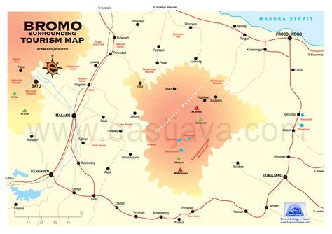 peta gunung bromo peta wisata bromo jawa timur