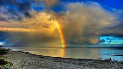 Rainbow Desktop Sea Background Wallpapers Nature Backgrounds