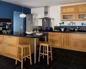 idee deco cuisine bois cuisine naturelle With idee deco cuisine avec cuisine aménagée en bois