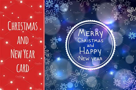 christmas and new year greeting card card templates creative market