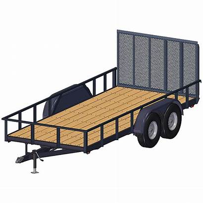 Trailer Plans Utility Axle Tandem Flatbed Trailers