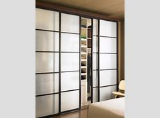Sliding Glass Closet Doors with Continental Frame