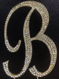 gold letter initial b birthday crystal rhinestone cake With rhinestone letters for cakes