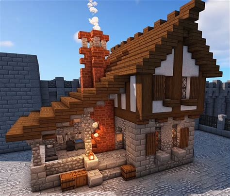 medieval blacksmith minecraft house plans minecraft