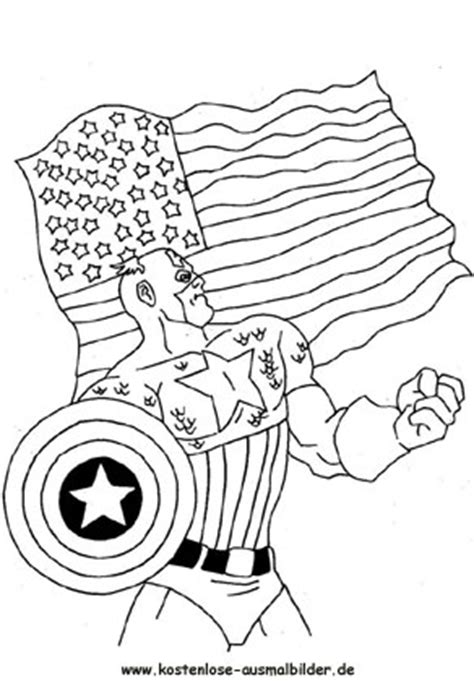 ausmalbilder malvorlagen captain america