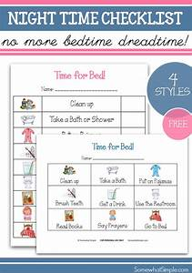 Printable Family Routine Chart Bedtime Job Chart Unitemonday Somewhat Simple