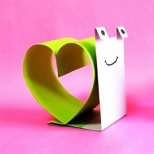 Bricolage Facile En Papier : escargot d 39 amour en papier bricolages enfants ~ Mglfilm.com Idées de Décoration