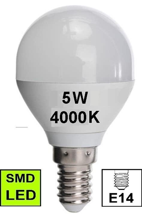 led bulb mini globe style e14 5w 4000k climolux