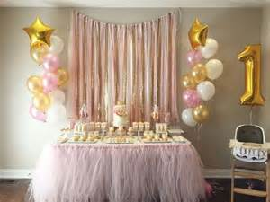 Pink White And Gold Birthday Decorations by The 25 Best Birthday Table Decorations Ideas On