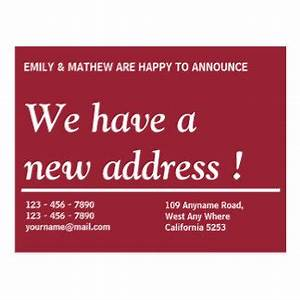 change of address postcards zazzle With change of address announcements postcards