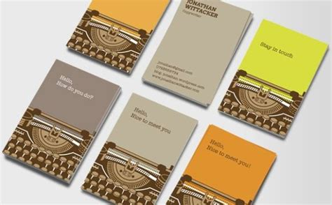great examples  journalist business card design