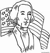 Coloring Washington President United States George Pages Printable sketch template