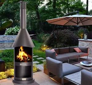Cheminee Exterieur Bois : chemin e d 39 exterieur ~ Premium-room.com Idées de Décoration