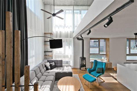 Chic Scandinavian Studio With Lofted Bed : Chic Scandinavian Loft Interior