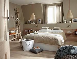 Tete De Lit Nature : chambre nature lambris bois pour t te de lit caisse fix au mur comme tag re ou table de ~ Teatrodelosmanantiales.com Idées de Décoration