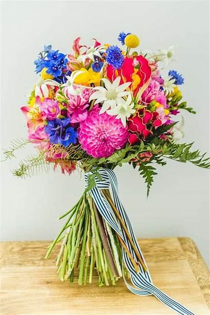 Bright Floral Bouquets Bold Bouquet Summer Bride