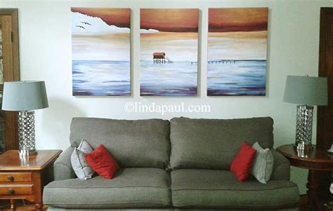 Sofa Paintings by Large Wall Work For Sale Contemporary Seascape Canvas