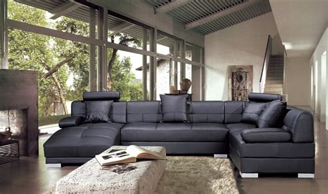 canape d angle avec grande meridienne deco in canape d angle capitonne cuir noir