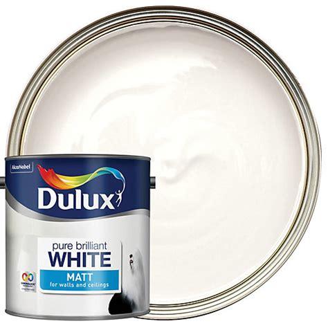 dulux matt emulsion pure brilliant white 2 5l wickes co uk