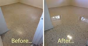 terrazzo floor restoration tile countertop polishing in