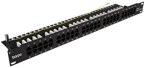 wall mounted drawer patch panel cat3 25 50 port 1u voice patch panel