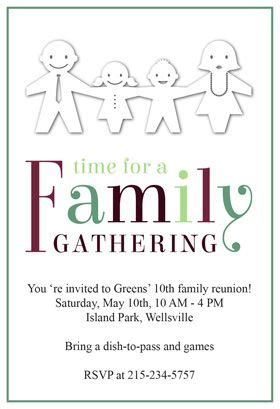 time   family gathering family reunion invitation