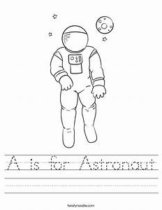 Astronaut Printable Worksheet - Pics about space