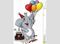 Elephant Happy Birthday stock vector Illustration of