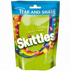 Mars Skittles Crazy Sours Tear and Share Pouch 174g - Mars ...