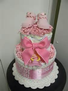 BABY GIRL loaded 2 tier diaper cake, baby shower centerpiece, gift or decoration