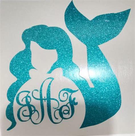 mermaid monogrammed stickers