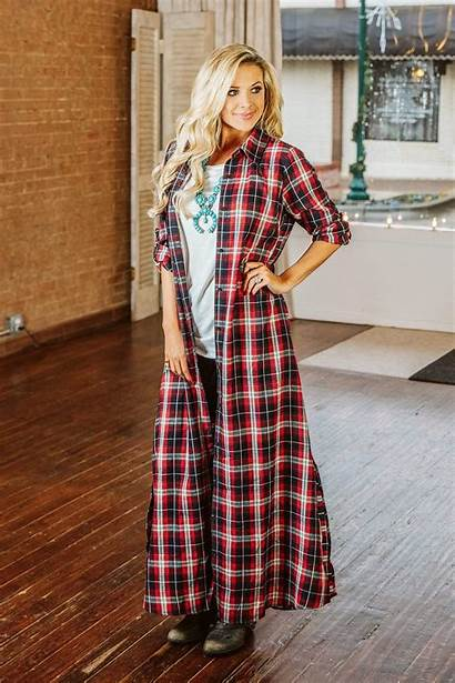 Duster Memphis Maybe Plaid Glitzy Girlz Boutique