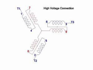 Wiring Diagram 3 Phase 230 460 3 Phase Motor Connection