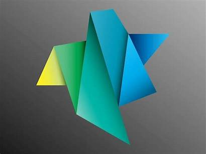 Paper Folded Colorful Vector Origami Freevector Folding