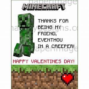 Minecraft Valentines Day Cards 1 for $5 00 Valentines