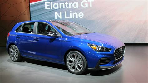 For the hatchbacks, elantra gt models start just above $20,000 with the gt sport starting at about $24,000. Hyundai Elantra GT N Line coming to AutoShow - WHEELS.ca
