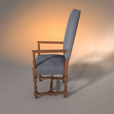 armchair uphol restoration hardware baroque uphol 3d model