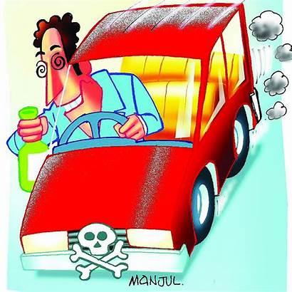 Drunk Driving Cartoon Drivers Police